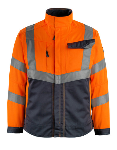 MASCOT® Oxford - hi-vis orange/dark navy - Jacket, high durability, class 2