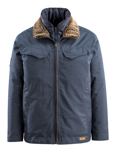 MASCOT® Queens - indigo denim blue - Winter Jacket, padded, water-repellent