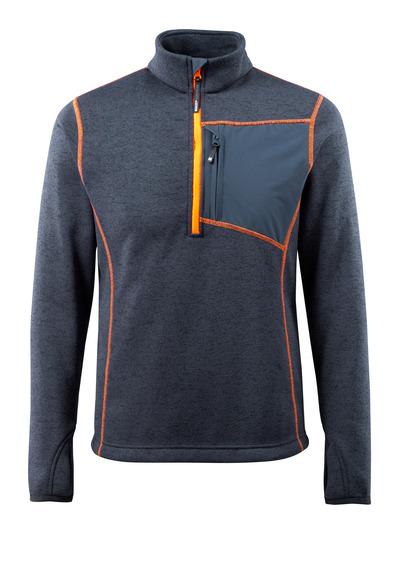 MASCOT® Reims - dark navy - Knitted Jumper with half zip
