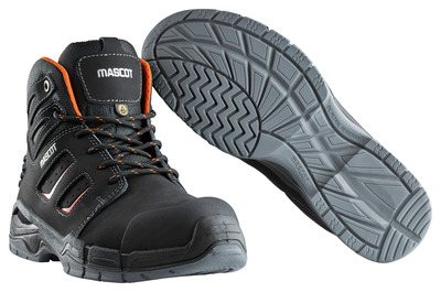 MASCOT® Rimo - black/dark orange - Safety Boot S3 with laces