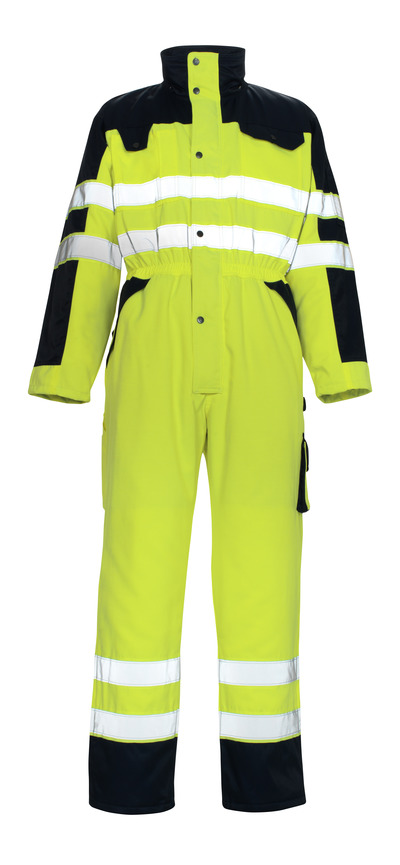 MASCOT® Riva - hi-vis yellow/navy* - Winter Boilersuit