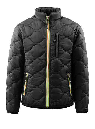 MASCOT® Rota - black - Jacket with lining and high collar