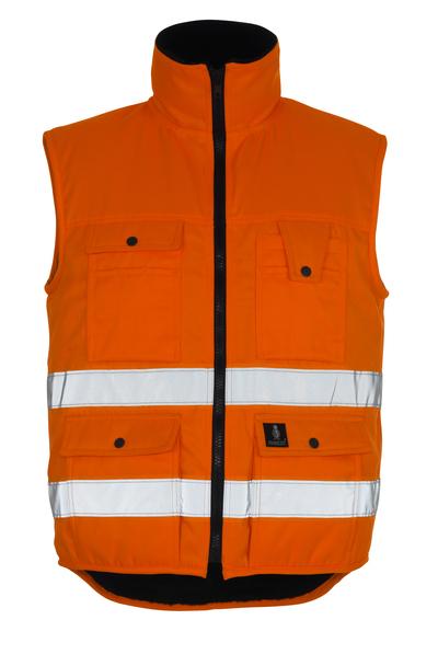 MASCOT® Sölden - hi-vis orange - Winter Gilet with pile lining, water-repellent, class 1