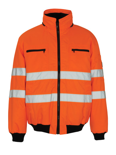 MASCOT® St Moritz - hi-vis orange - Pilot Jacket with pile lining, waterproof MASCOTEX®, class 3