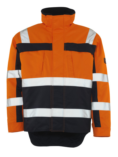 MASCOT® Teresina - hi-vis orange/navy - Winter Jacket with pile lining, waterproof, class 3