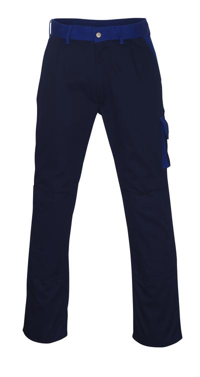 MASCOT® Torino - navy/royal - Trousers with kneepad pockets, high durability