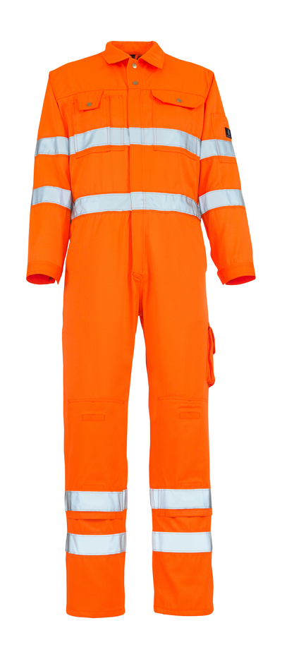 MASCOT® Utah - hi-vis orange - Boilersuit with kneepad pockets, class 3