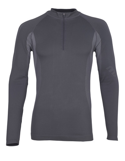 MASCOT® Valongo - dark anthracite - Functional Under Shirt with half zip, lightweight, moisture wicking