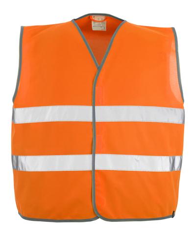 MASCOT® Weyburn - hi-vis orange - Traffic Vest with hook and loop fastening, class 2