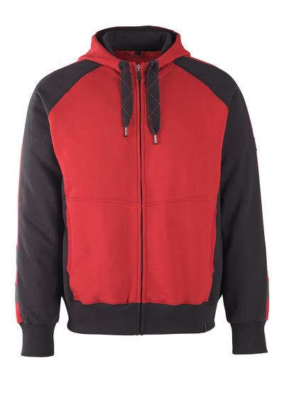 MASCOT® Wiesbaden - red/black* - Hoodie with zipper