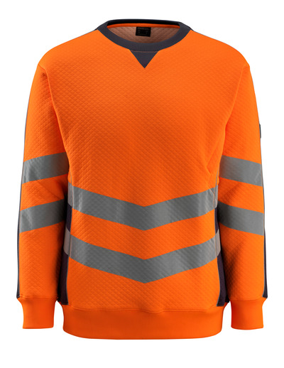 MASCOT® Wigton - hi-vis orange/dark navy - Sweatshirt, modern fit, class 3